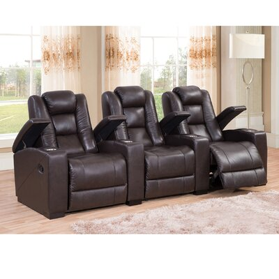 Amax Midway Home Theater Leather Recli..