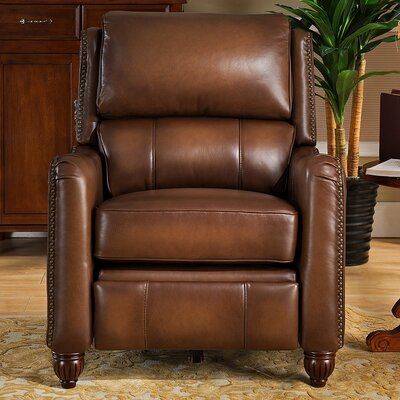 Amax Dartmouth Top Grain Leather Power Recliner