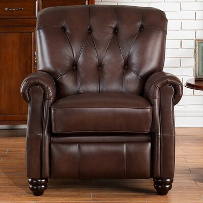 Amax Carolina Top Grain Leather Pushback Recliner