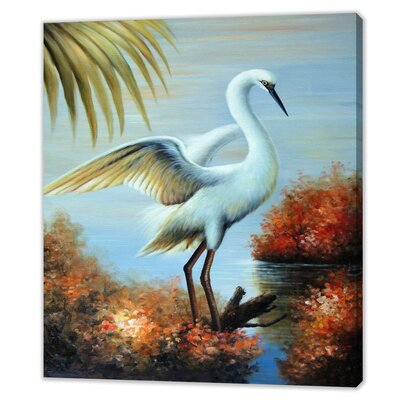 LivCorday Florida Wildlife Scene Art Print Wrapped on Canvas