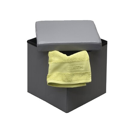 Evideco Look Cube Folding Storage Ottoman
