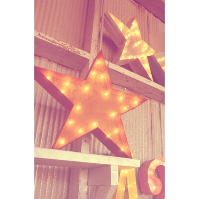 Star Wall Decor With Lights : Vintage Marquee Lights Star Wall Decor Wayfair