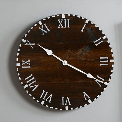 essex crafted wood products oversized 18 quot colchester reclaimed style wood wall clock