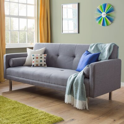 riley ave rachel 3 seater clic clac sofa bed reviews wayfair uk. Black Bedroom Furniture Sets. Home Design Ideas
