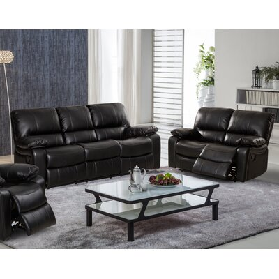 Living In Style Layla 2 Piece Reclining Living Room Sofa and Loveseat Set