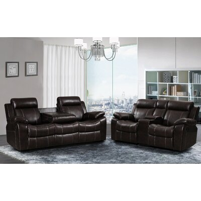 Living In Style Gabrielle 2 Piece Living Room Reclining Sofa Set