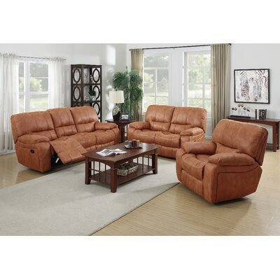 Living In Style Orleans 3 Piece Reclining Living Room Set