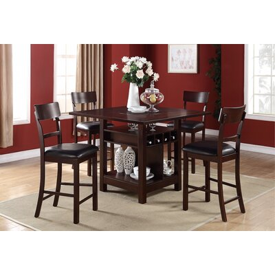 Infini Furnishings 5 Piece Counter Height Dining Set