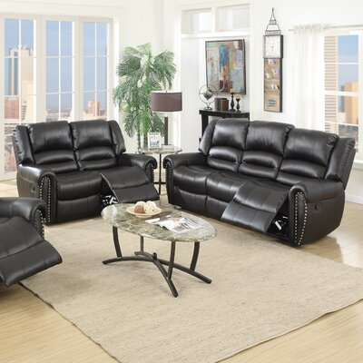 Infini Furnishings Madison Reclining Sofa and Loveseat Set