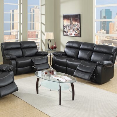 Infini Furnishings Reclining Sofa and Loveseat Set