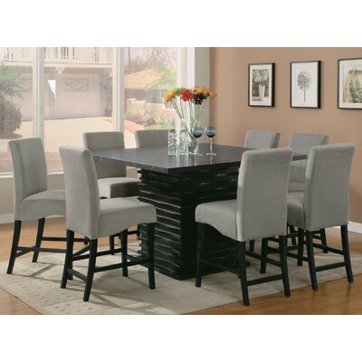 Infini Furnishings Jordan 9 Piece Counter Height Dining Set