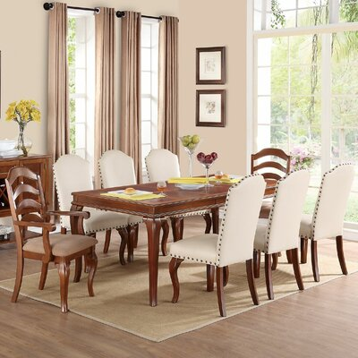 Infini Furnishings Flavien II 9 Piece Dining Set