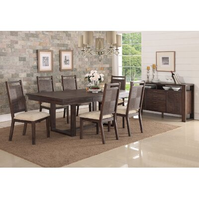 Infini Furnishings Carolle 7 Piece Dining Set