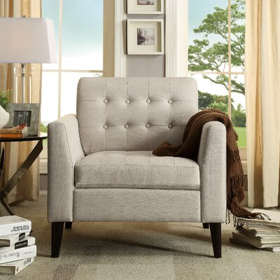iNSTANT HOME Estrella Tufted Arm Chair