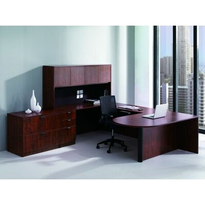 Conklin Office Furniture 7-Piece U-Shape Desk Office Suite