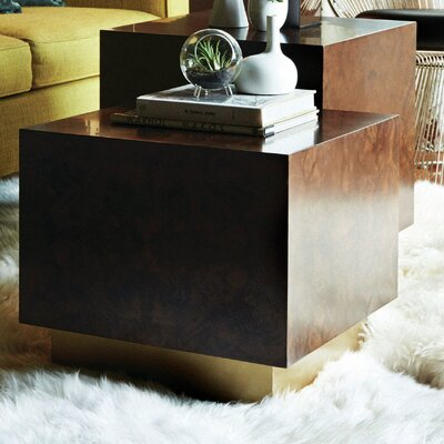 M3LD Milton Burl Large Cube End Table