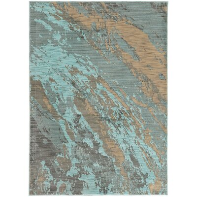 Agave Marble Teal Gray Area Rug