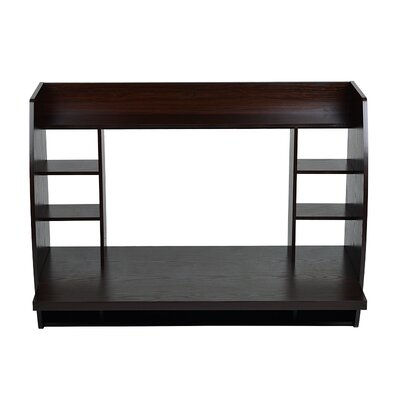 Utopia Alley Floating Wall Mount Desk with Shelving and Storage Nooks