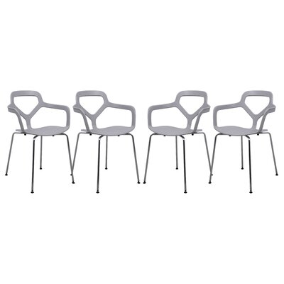 LeisureMod Carney Arm Chair (Set of 4)