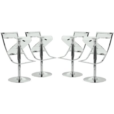 LeisureMod Napoli Adjustable Height Swivel Bar S..