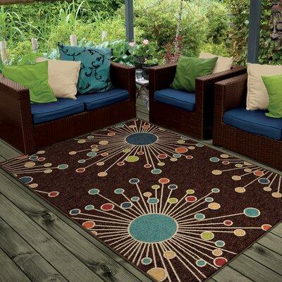 threadbind walton retro fit brown area rug u0026 reviews wayfair