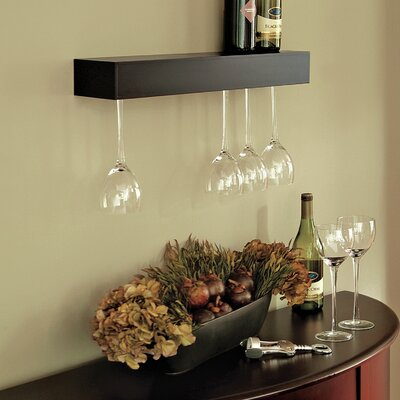 Latitude Run Bobnice 15 Bottle Wall Mounted Wine Rack