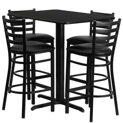 Latitude Run Rylee 5 Piece Pub Table Set