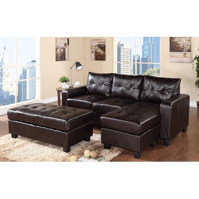 Latitude Run Reversible Chaise Sectional In Espresso