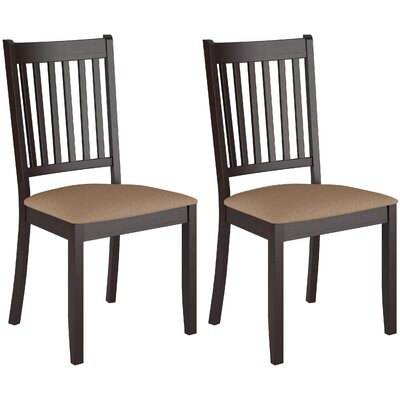 Latitude Run Side Dining Chair in Rich Cappuccino (Set of 2)