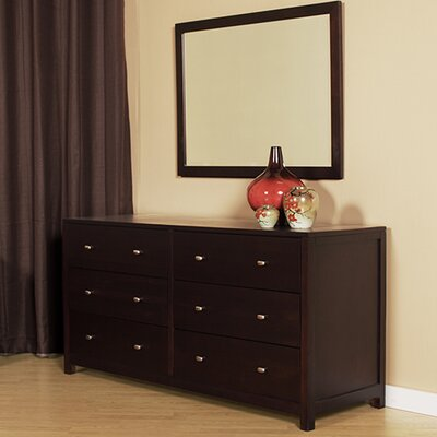 Latitude Run 6 Drawer Double Dresser with Mirror