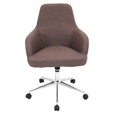 Latitude Run Lucie Adjustable Mid-Back Office Chair