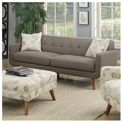 Latitude Run Mid Century Modern Sofa with accent..