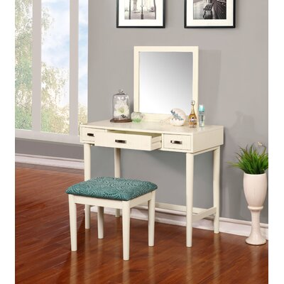 Latitude Run Worley Vanity Set with Mirror