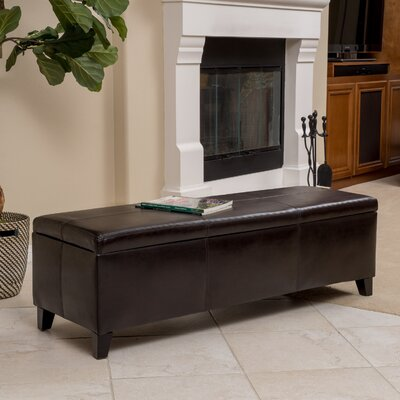 Latitude Run Balmain Faux Leather Storage Ottoman