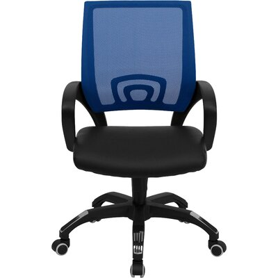 Latitude Run Brenna Mid-Back Leather Office Chair