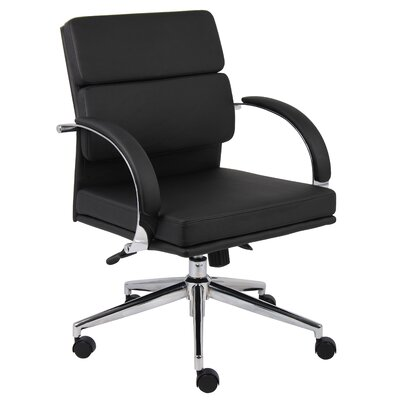 Latitude Run Margaret Mid-Back Conference Chair Caressoft Plus Adjustable Office