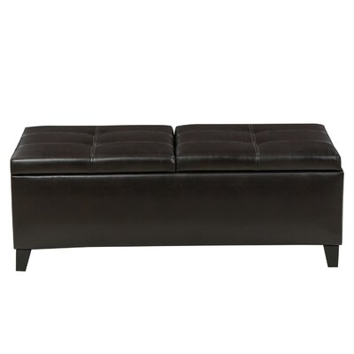 Latitude Run Jefferson Leather Storage Ottoman