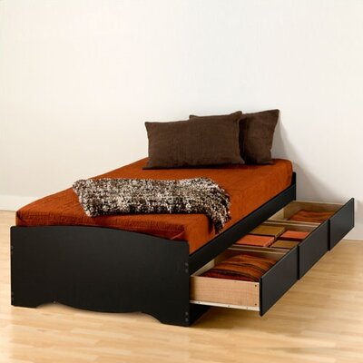 Latitude Run Wanda Extra Long Twin Platform Bed with Storage