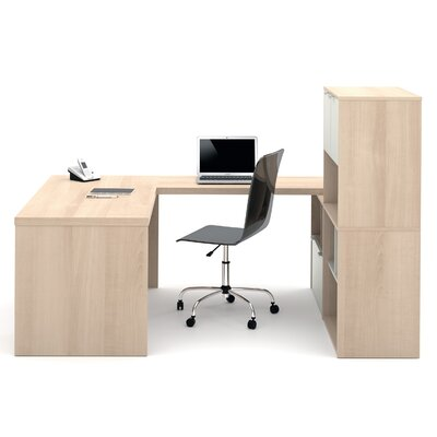 Latitude Run Luther 1 Piece U-Shaped Desk Office Suite
