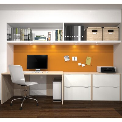 Latitude Run Luther 3 Piece Standard Desk Office Suite
