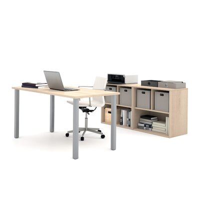 Latitude Run Luther 2 Piece U-Shaped Desk Office Suite
