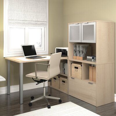 Latitude Run Luther 1 Piece L-Shaped Desk Office Suite