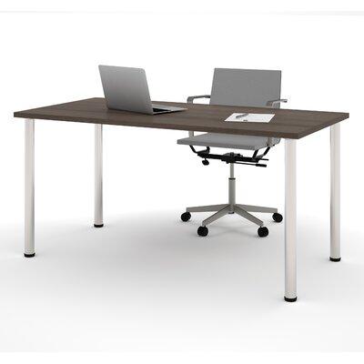 Latitude Run Sharlene Writing Desk with Round Metal Leg
