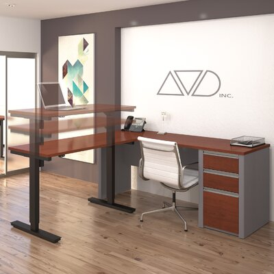 Latitude Run Karla L-Shape Desk Office Suite