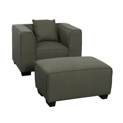Latitude Run Randy Armchair and Ottoman Set
