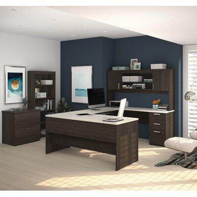 Latitude Run Barts Computer Desk with Lateral File and Bookcase