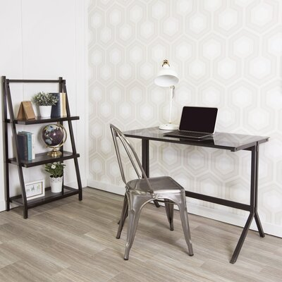 Latitude Run Lily Writing Desk and Shelf Combo