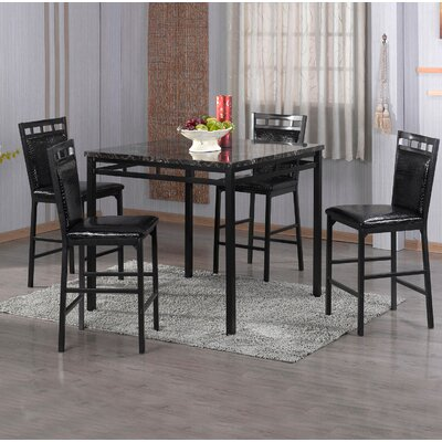 Latitude Run Eugene 5 Piece Counter Height Dining Set