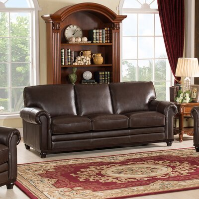 Westland and Birch Coventry Top Grain Leather Sofa