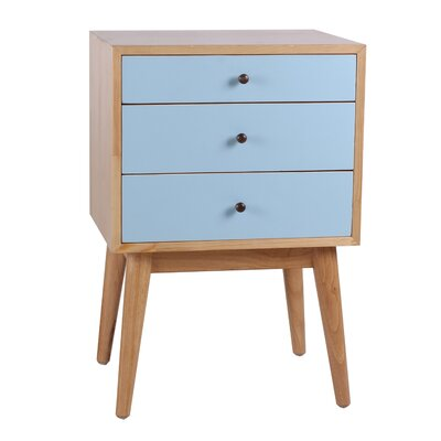 Porthos Home Monet 3 Drawer End Table
